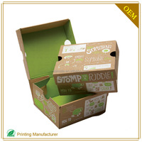 Custom Foldable Shoe Packing Box Labels Manufacturer With Logo Print