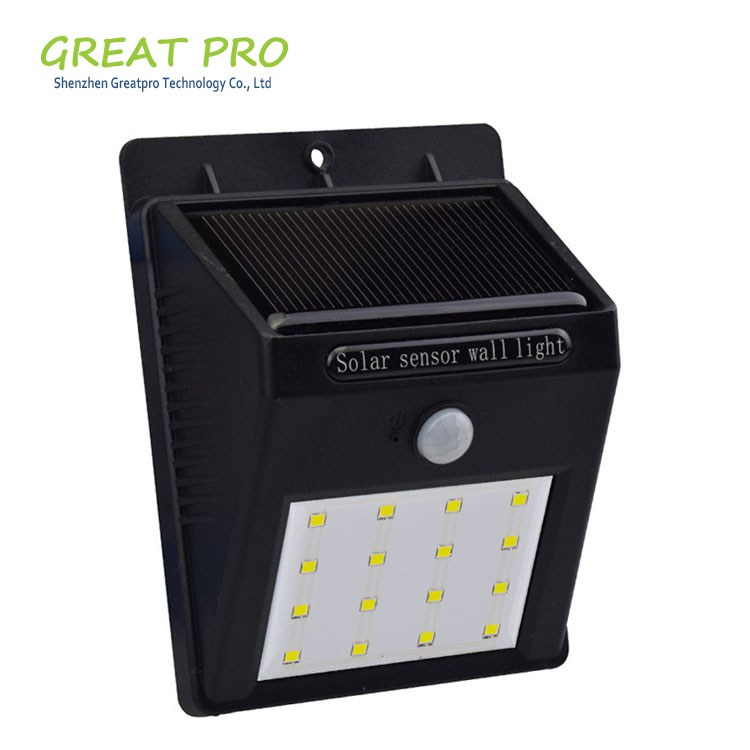 8 16 20 LED Solar Power Motion Sensor Garden Security Lamp IP65 Waterproof Protection Level Solar Powered Wall Light