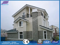 Prefabricated hot dip galvanized light steel frame structure house