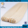 10%human remy double weft cheap platinum straight wholesale Malaysian hair weaving
