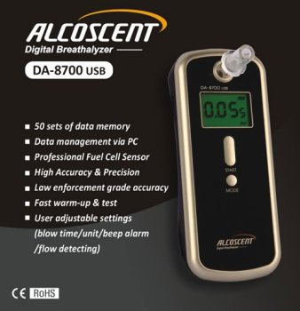 ALCOSCENT DA-8700 USB Digital Breathalyzer