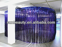 Blue Metallic Fringe Curtain Party Foil Tinsel Room Door Decor 3' x 8'