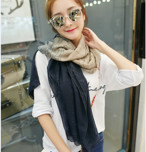 Korean Style Cotton Voile Scarf Shawl Viscose Scarf Rayon Shawl