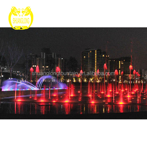 shuanglong project henan luohe Moon Bay lake park Musical Dancing Fountain