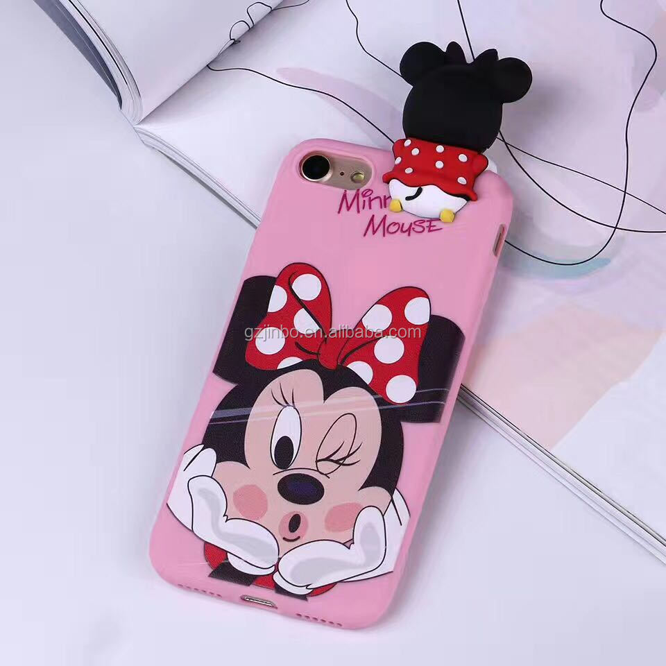 cartoon 3D soft silicone mobile phone case for iphone 6 6s,mobile phone accessories