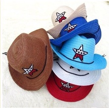cheap party star kids fedora hat paper straw hat