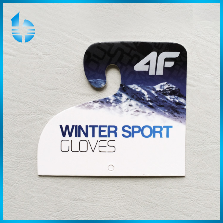 Custom paper hang tag for outdoor sports down coat