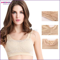 Seamless Lace Nude Color Dance Bra Boob Tube Top Design