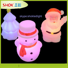 2014 Christmas Decoration multicolor night light ,animal shaped night lights