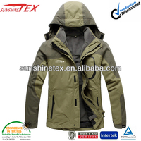 Breathable waterproof windproof fabric fluorescent hoodie jacket