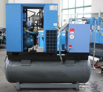 Combined Screw Air Compressor and Dryer for Dustless Blasting