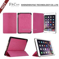 Tablet case for ipad mini 4 leather flip PU folded stand cover for ipad