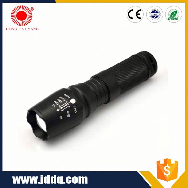AloneFire 501A Mini Black Traffic flashlight Waterproof LED tactical Flashlight LED Red/blue/green Torch penlight