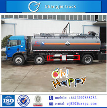 FAW 3 axles chemical tank truck well improvedfor sale