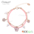 L1441 Candygirl brand simple design flower cat bracelet glass bead love bracelet