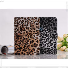 For iPad Mini cover, high quality Leopard skin pattern leather case P-iPDMINICASE023