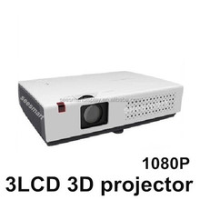 "New Brightest 5500 Lumens 300"" screen Full HD 3LCD 3D Projector Video Digital Advertising Education Beamer Projektor Proyector"