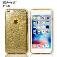 luxury 3 in 1 bling glitter brushed metal tpu phone case for iphone 6