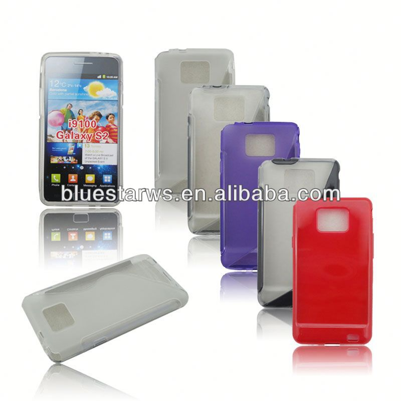 TPU Cell Phone Case Cover For Samsung Galaxy S2 I9100 tpu case for samsung