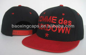 customized embroidery black/red Two Tone snapback baseball cap