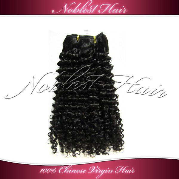 wholesale kinky curly virgin chinese hair weaving extensions 7a