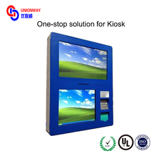 10.1 inch screen wall mounted kiosk with thermal printer and speaker