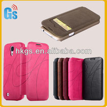 Leather wallet case for samsung galaxy s4 i9500 phone case accessories