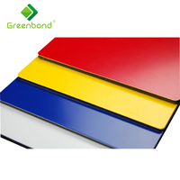 Greenbond mirror finish 3D printed wall cover decorative panel composite panel