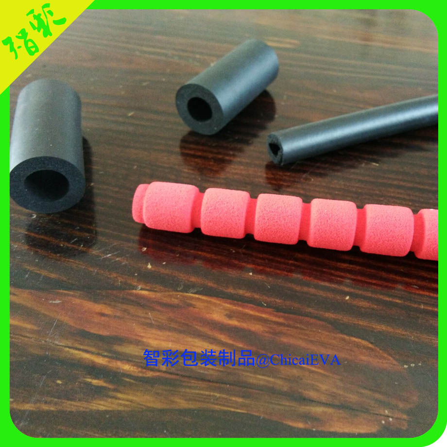 Soft comfortable flexible EPE EVA foam grip tube handles