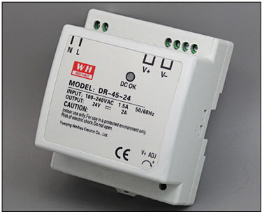 CE RoHS approved DR-45-12 DIN Rail Led power 12V 3.5A dc power supply for led