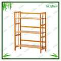 Handmade 3 tier natural bamboo bookshlef