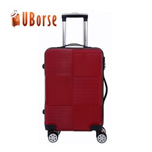20'' 24'' 28'' suitcase , luxury leisure striped trolley luggage , ABS baggage , PC koffer , hard shell valise