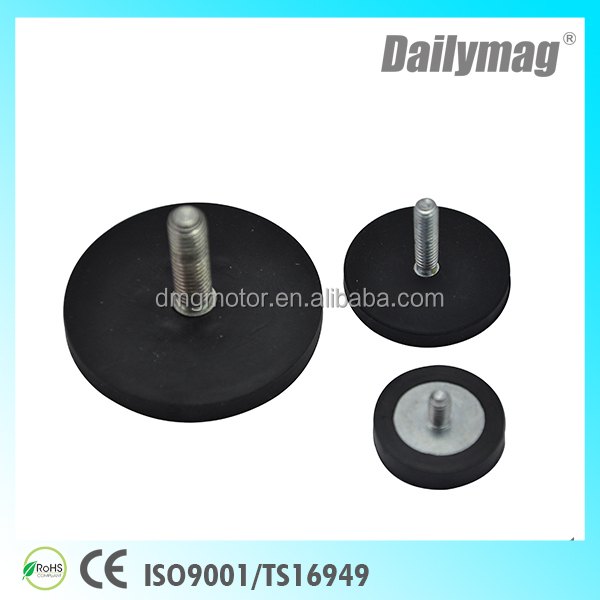 Ndfeb Rubber Coating Magnets /Neodymium Holding Magnets/Rubber Coated Magnets With 25 Kg Pull Force
