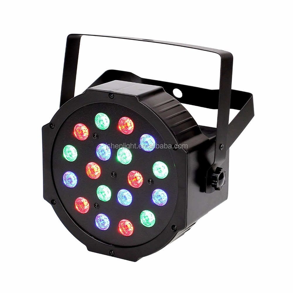 RGB PAR Light 18*1W LEDs DMX512 Color Mixing Wash Can Stage Light Disco DJ Wedding Party Show Live Concert Lighting