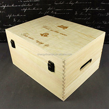 cheap wooden wine crates for sale with wood wool
