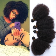 Alibaba Express Wholesale Cheap 6a 7a 8a Grade unprocessed natural black mongolian afro kinky curly braiding hair