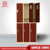 Hot sell modern storage smart cheap steel kd 6 door lockers