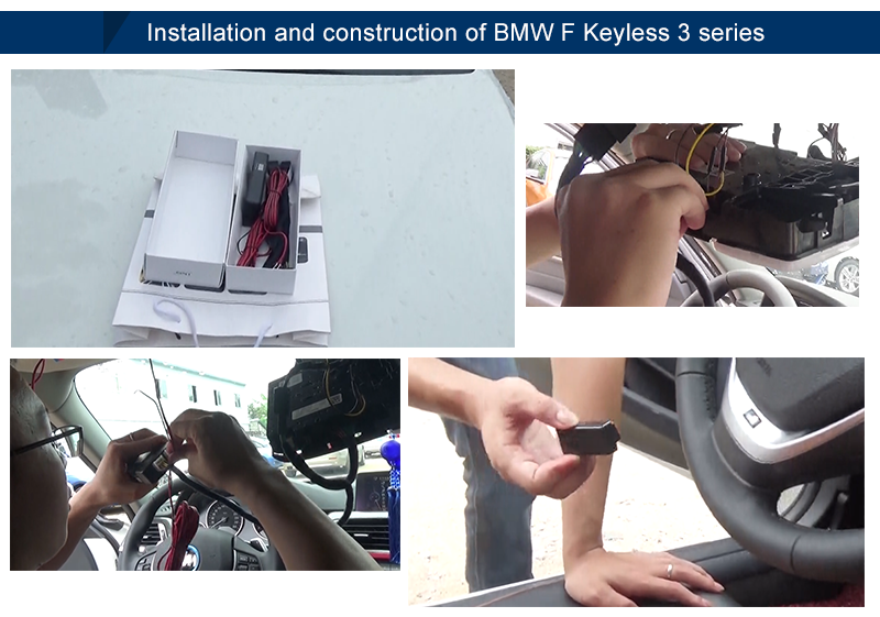 Unique smart keyless entry with auto lock for b-m-w F series keyless entry