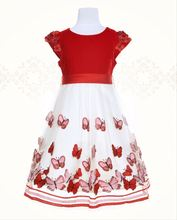 Baby Cotton Frocks Designs Butterfly Applique Princess Girl Dress Korean Style Clothes