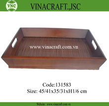 Brown bamboo lap tray
