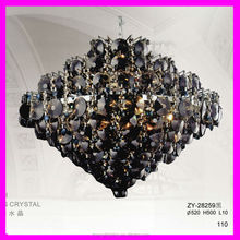 modern clear black yellow red k9 crystal water ball pendant lamp with chain chrome color can change crystal
