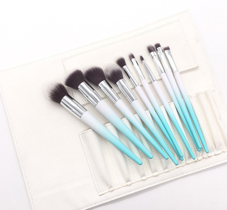 Hot selling 10 pcs new makeup brush supplier private label cosmetic brush kit