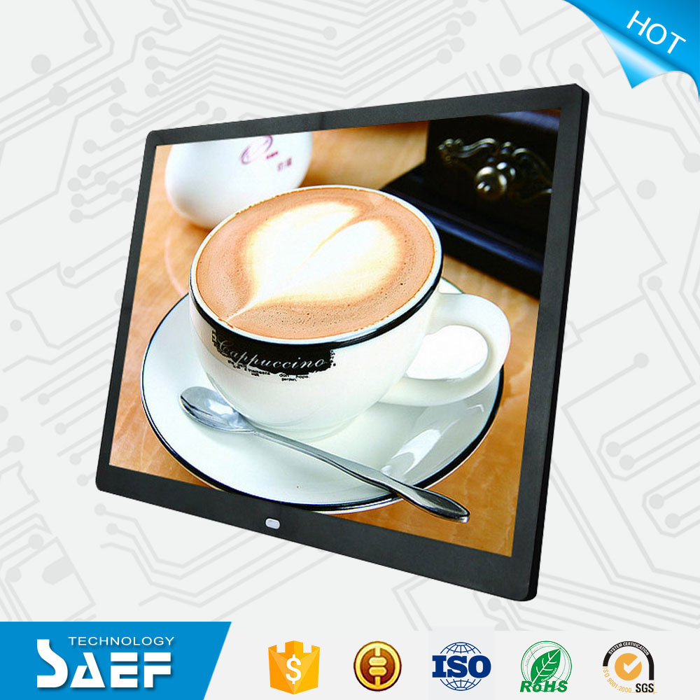 "Movie free download digital photo frame 15"" MP4 player"
