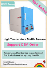 PID Auto control Programmable lab high temperature 1400 celsius chamber furnace