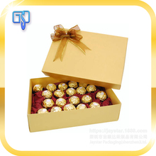 High quality custom gift box popular chocolate box with tray and silk ribbon wholesale