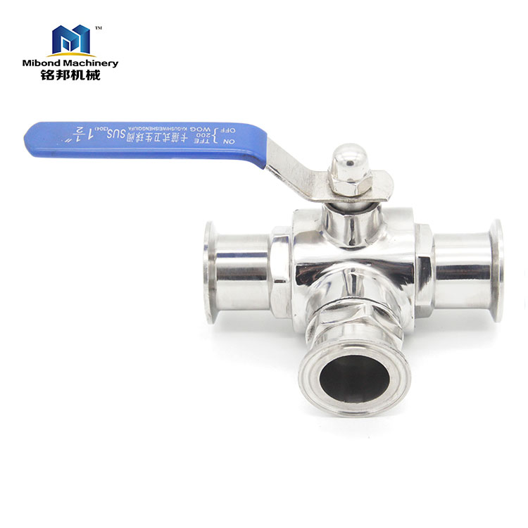 SUS 304 Stainless Steel Sanitary Tri-Clamp Sanitary stainless Control Ball Valve, Portable Ball Valve With Tri-Clamp End