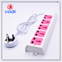 2015 hot sale 3/4/5 way generator plug socket with surge protector