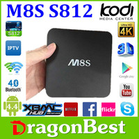 M8S tv box android Amlogic S812 KODI and 4K pron video Quad Core M8S Android TV Box with fast delivery