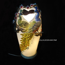 Romantic Enamel Porcelain Hand Painted Art Ceramic Table Lamp