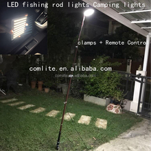 2 lights boards 12V LED 4.5 M Telescopic Rod Lamp LED Fishing Camping Light for Road Trip Night Fishing